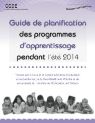 Guide de planification des programmes d'apprentissage pendant