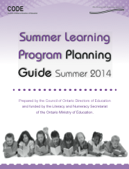 Summer Learning Program planning guide